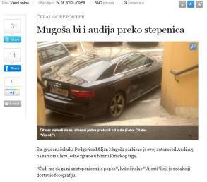 Vijesti screen shot - Mugošin automobil?
