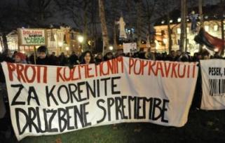protesti slovenija