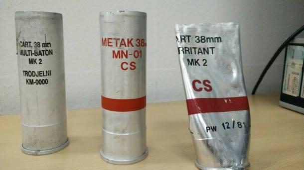 Slika iskorišćenih projektila.